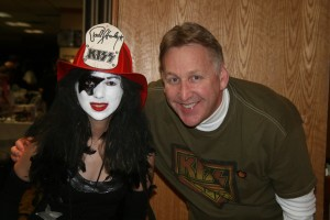 Bill Starkey with KISS Fan