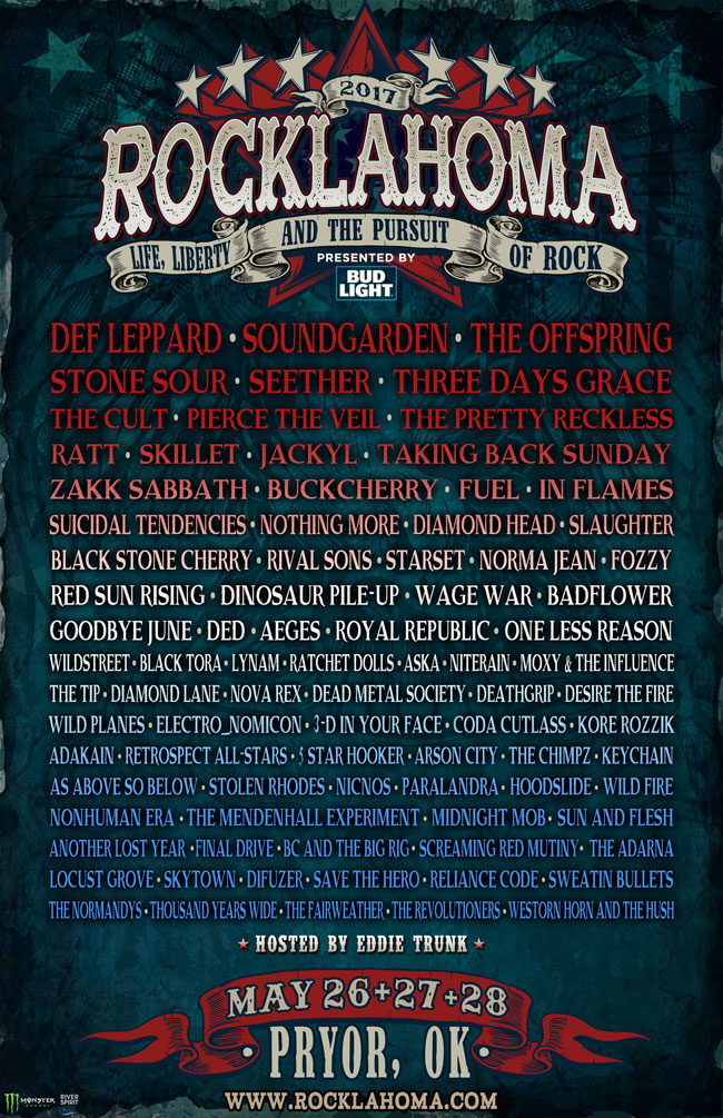 Rocklahoma 2017 Lineup